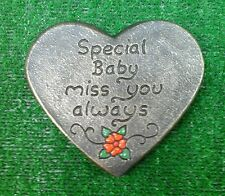 Baby Memorial stone.plaque.heart.grave marker tear drop no 1