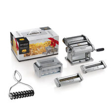 Marcato Multipast Set Sheeter +5 Accessories Pasta Maker Lasagne Ravioli Etc.