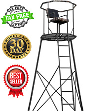 Amerstep 15' Tripod Hunting Stand with Seat Tree Deer Ladder Bow Real Tree Seat