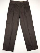 Salvatore Ferragamo Men's Cotton Chino Pants Pleated Brown • Italy • 34 x 31