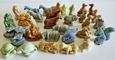 Lot Vtg Wade Whimsies Miniature Figurines Turtle Clown Horse Animals Goose Fish