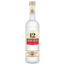 6 bottiglie ouzo greco 12 a 1l anice 6 x 1 LITRI