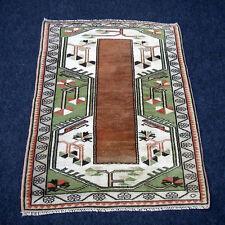 Türkischer Orient Teppich 113 x 83 cm Milas Melas Beige Rot Turkish Carpet Rug