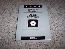 1999 Jeep Wrangler Shop Service Repair Manual SE Sport Sahara 2.5L 4.0L 4WD