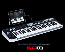 SAMSON GRAPHITE 49 USB MIDI KEYBOARD CONTROLLER WITH AFTERTOUCH FREE SHIPPING