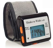Tech Tools Shake-n-Wake Silent Vibrating Alarm Wrist Watch (Black) PI-107