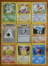 Pokemon CCG Base Set Rare, Uncommon & Common Unlimited High Grade