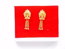 22k gold plated Stud Earrings Indian Asian fashion costume  jewellery e7