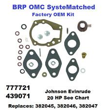 Johnson Evinrude BRP Carburetor Carb Rebuild Kit 20 HP 439071 See Chart