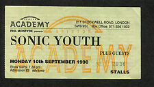 1990 Sonic Youth Babes In Toyland Concert Ticket Stub Goo Tour Brixton London UK