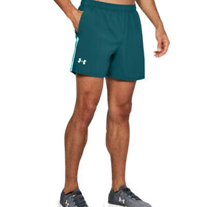 Under Armour UA Mens HeatGear Launch Sw 5 Inch Mens Tourmaline Running Shorts L