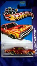 Hot Wheels '69 Dodge Coronet Superbee Red Die-cast 2013 HW Showroom Flames
