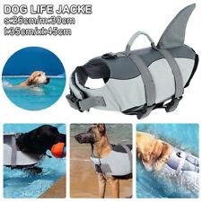 More details for dog life jacket adjustable pet safety swimming shark float buoyancy aid vest