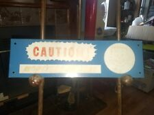 VINTAGE CAUTION MONSTERS AT PLAY Sign freckled boy Street Road Traffic Safety