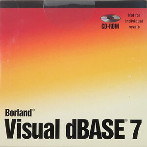 Borland Visual dBase 7 Compiler 32-BIT BOR10294  DBA1370WW35182  NEW