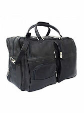 Piel Leather 8829 Black Colombian Leather Carry On  Bag