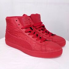 Puma Mens Suede Mid ME Iced Shoes Leather Sneakers Red 361861 01 US 7.5 EUR 40