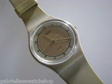 GOLDEN TAN! Vintage 1984 Beige Gents Swatch-RARE!