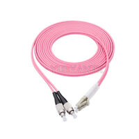 45M LC UPC to FC UPC Duplex OM4 Multimode 3.0mm Fiber Optic Patch Cord Cable