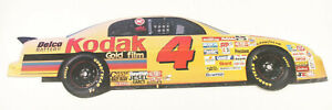 """Nascar #4 Kodak Race Car Sterling Marlin Die-Cut ~9x36"""" 2-Sided Display Ad F44"""