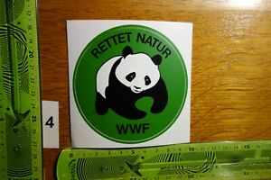 Alter Aufkleber Tierschutz Naturschutz WWF Rettet Natur