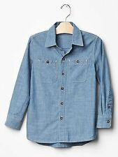 NWT GAP KID'S BOY'S CHAMBRAY SHIRT 100% COTTON (XS) 4-5