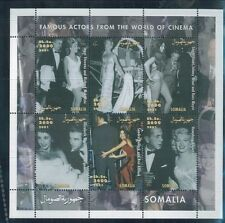 FAMOUS ACTORS FROM CINEMA Souvenir Sheet MNH (Unlisted) - Somalia E24