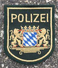 Vintage Bavaria Polizei German Police Shoulder Patch Flash Germany