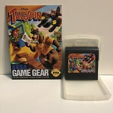 SEGA GAME GEAR TAILSPIN GAME WITH PROTECTOR CASE AND BOOKLET