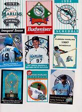 25 Miami/Florida Marlins Baseball schedules Stanton/Fernandez/Ramirez Cruz Cantu