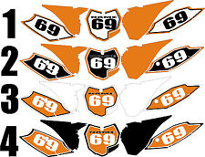 Number Plate Graphics for 2013-2015 KTM SX 125-250 sxf 250-450 Side Panels Decal