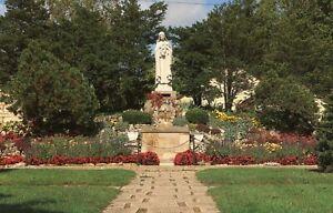 The Grotto Shrine of the Little Flower Church Royal Oak Michigan MI Vtg postcard