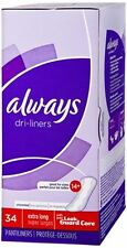 Always Dri-Liners Pantiliners Unscented For Sizes 14 Plus 34 Each (Pack of 5)