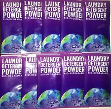 Single Sachet Earth Laundry Detergent Powder 20g x 10 | Biodegradable | Travel