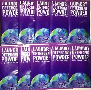 Single Sachet Earth Laundry Detergent Powder 20g x 10 | Biodegradable | Travel