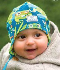 PICKAPOOH Baby Mütze Frosch Radler aus Bio-Baumwolle Gr.40