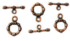 25 Set Of Antique Copper fancy Toggle Clasps Wholesale Price