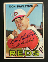 Don Pavletich Reds signed 1967 Topps baseball card #292 Auto Autograph 1