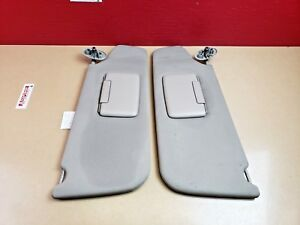 2006-2010 Jeep Commander Sun Visor Sunvisor Set W/ Covered Mirror OEM