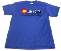 The Mountain Colorado Logo T-Shirt Size Medium  Blue