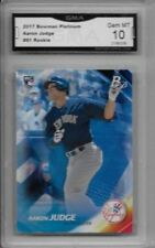 Aaron Judge RC 2017 Bowman Platinum #91 GMA Graded 10 Rare Baseball Rookie ROY