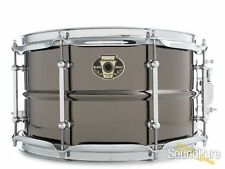 Ludwig 7x13 Black Magic Brass Snare Drum-Chrome