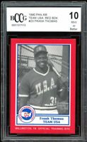 1990 Pan Am Team USA Red Back #23 Frank Thomas Rookie Card BGS BCCG 10 Mint+
