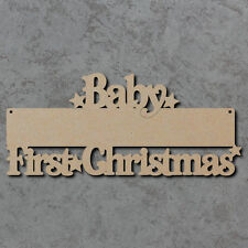 Baby First Christmas Blank Sign (Belshaw Font) - Wooden Laser Cut mdf Crafts