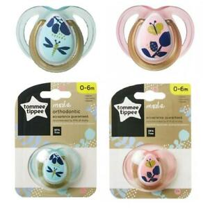 Single Tommee Tippee Moda Orthodontic Dummy Pacifier BPA Free Soother 0-6 M