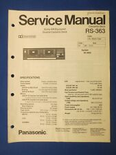 Panasonic RS-363 Cassette Service Manual Factory Original The Real Thing