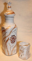 "ORTHODOX Bottle for Holy Water with CROSS Church White Brown 10.3"" + cap"