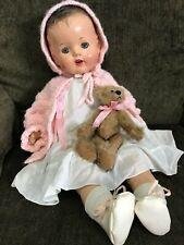 "Vintage 1937 Madame Alexander princess Alexandria composition 24"" baby doll Rare"