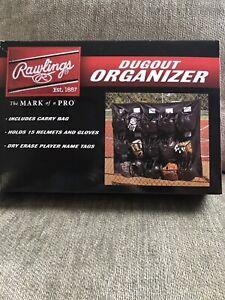 Rawlings Dugout organizer Holds 15 Helmets & Gloves Carry Bag Baseball/softball