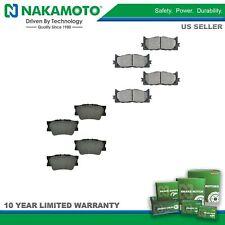 Nakamoto Brake Pad Premium Posi Semi Metallic Front & Rear Kit for Lexus Toyota